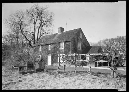 Black and white photo of Mulford Farmhouse